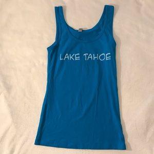 EUC {Next Level Apparel} Lake Tahoe Tank Top blue